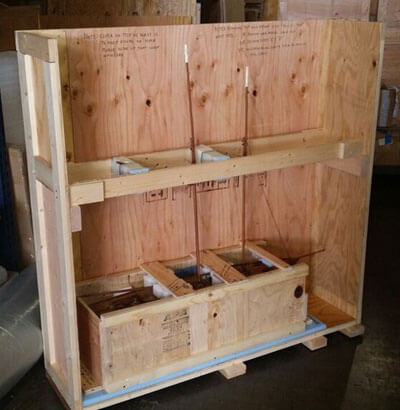 Custom Double Crate Shipping Container